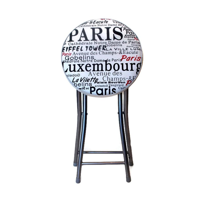 Atria Gnome Paris City Folding Stool Putih Bangku Lipat