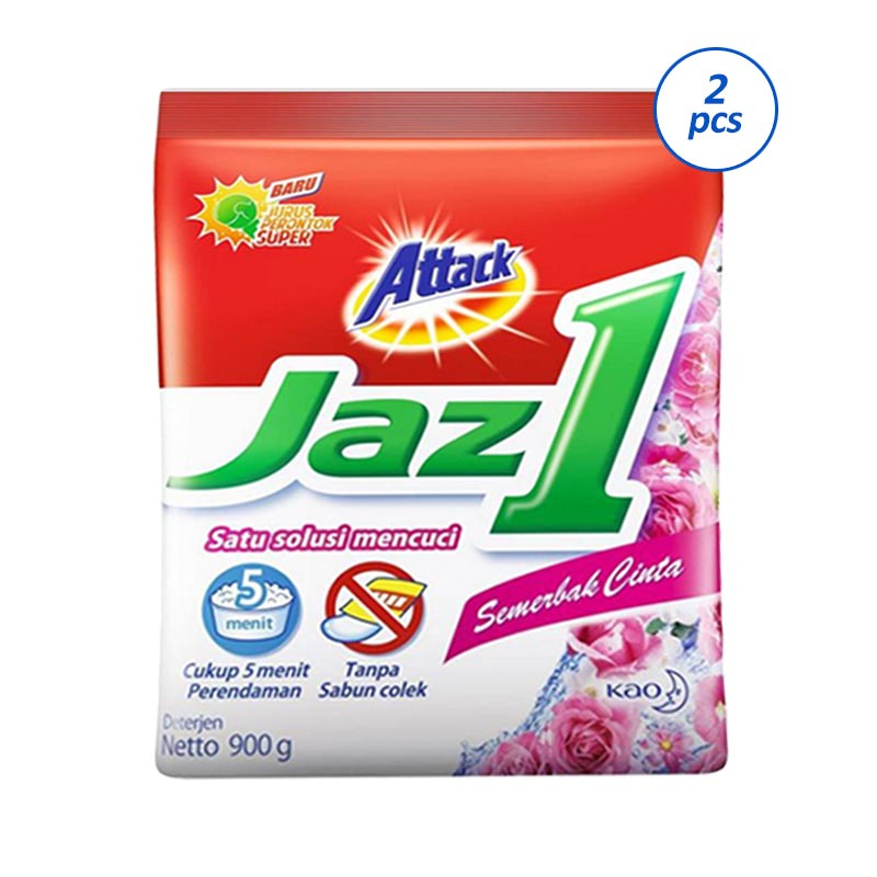 Attack Jaz 1 Semerbak Cinta Detergent [900 g/2 pcs]