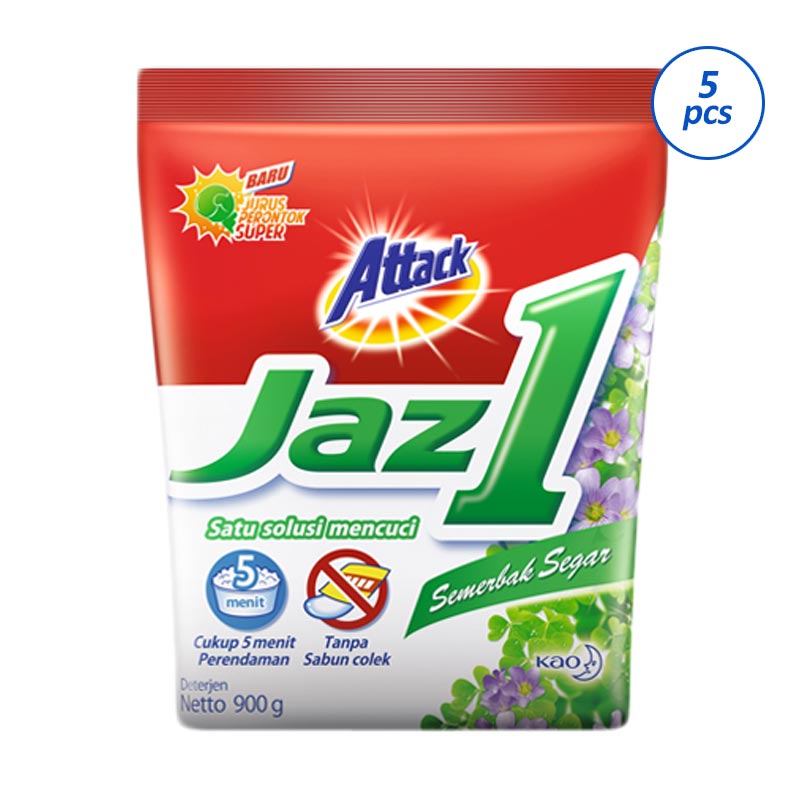Attack Jaz 1 Semerbak Segar Detergent [900 g/5 pcs]