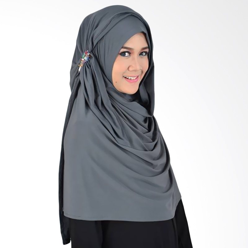 Atteena Hijab Hana Syakira Kerudung - Abu Tua