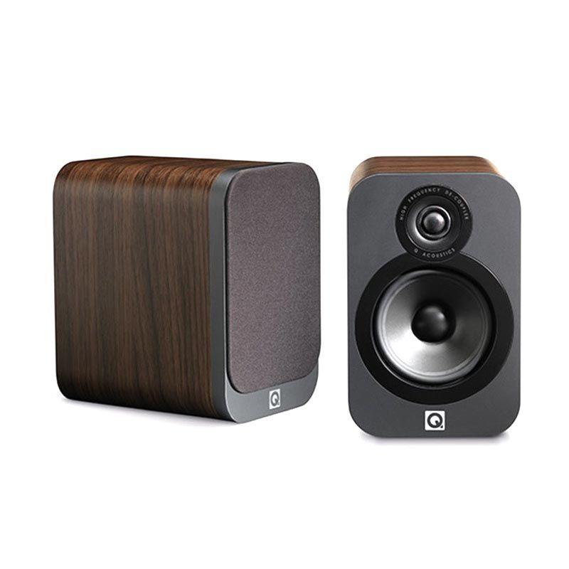 Q Acoustics Compact Bookshelf Standmount Walnut 3010 Speaker