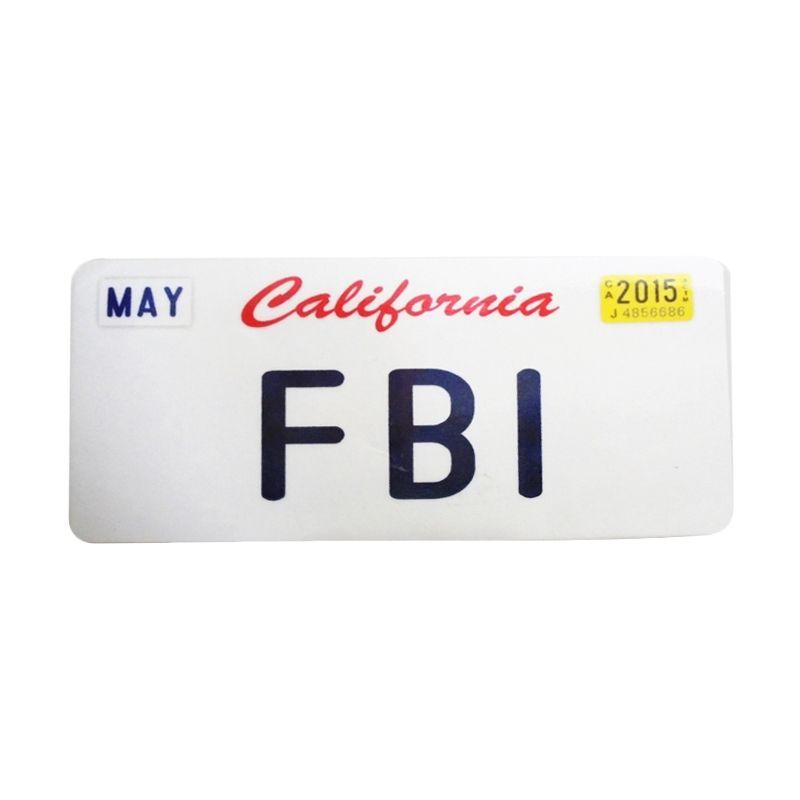 Automilshop California FBI Putih Sticker