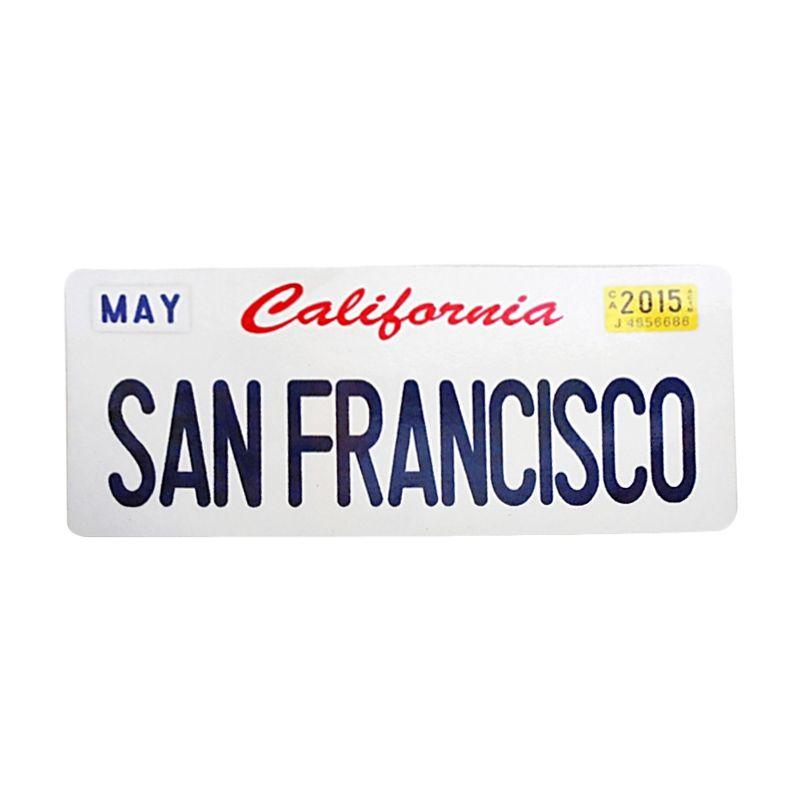 Automilshop California San Francisco Putih Sticker