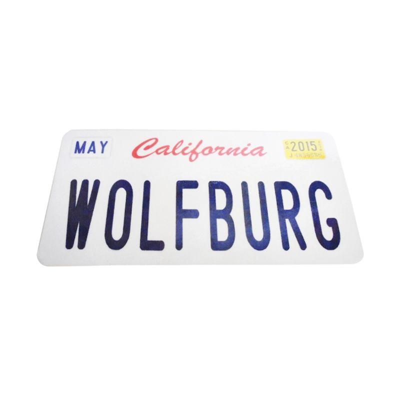 Automilshop California Wolfburg Putih Sticker