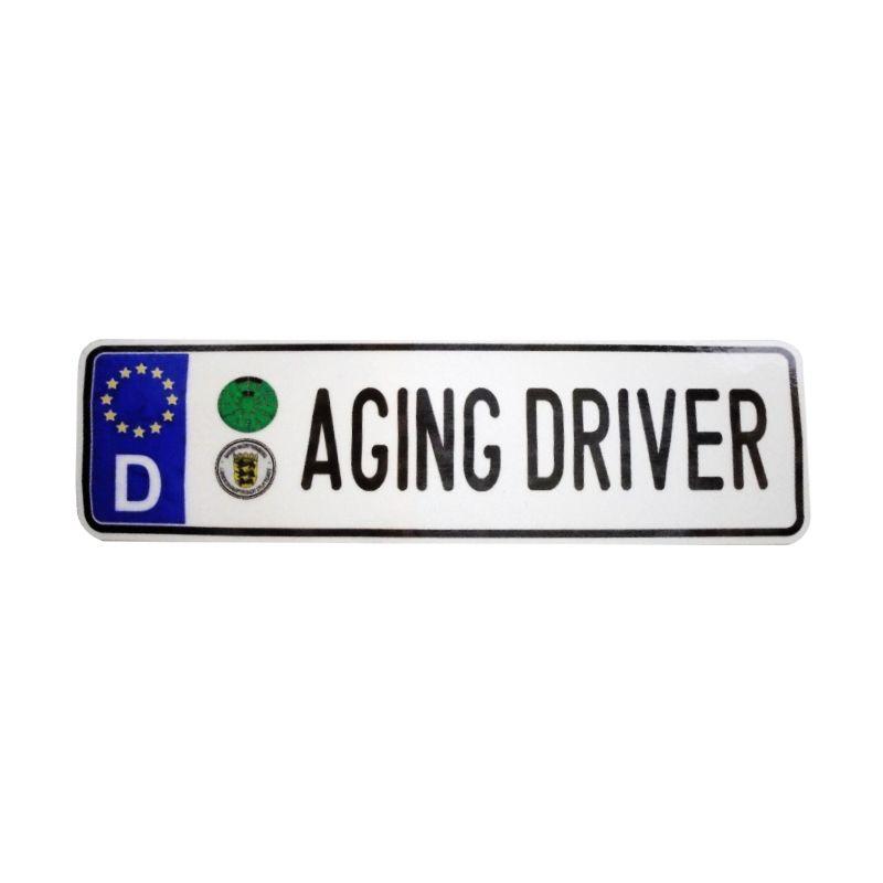 Automilshop D Aging Driver Putih Sticker