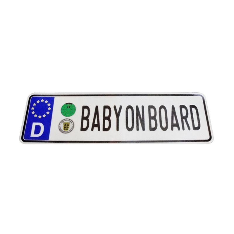 Automilshop D Baby on Board Putih Sticker
