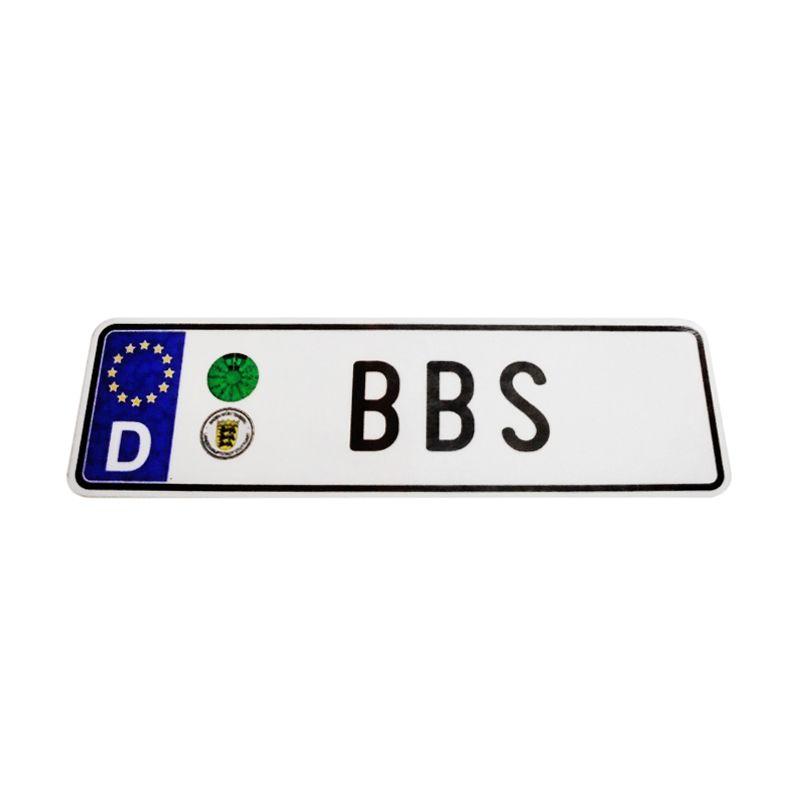 Automilshop D BBS Putih Sticker