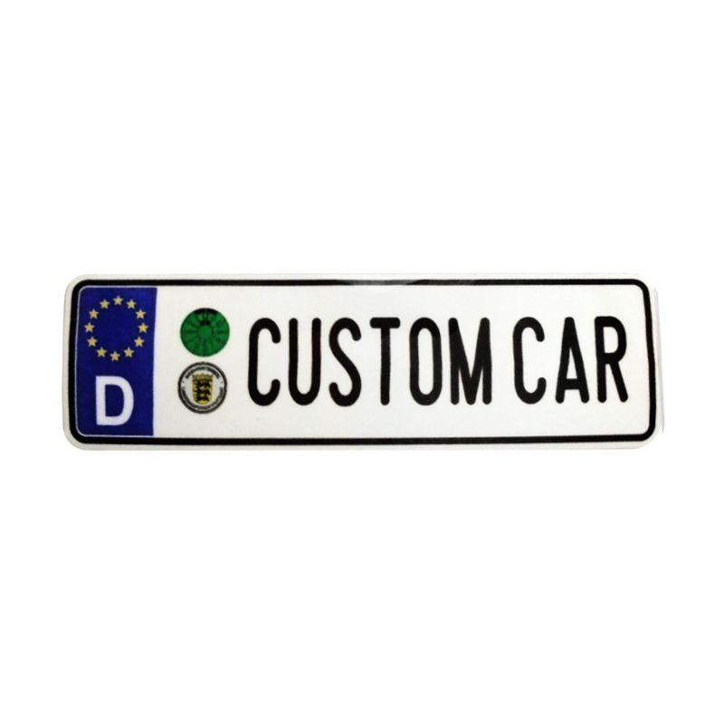 Automilshop D Custom Car Putih Sticker