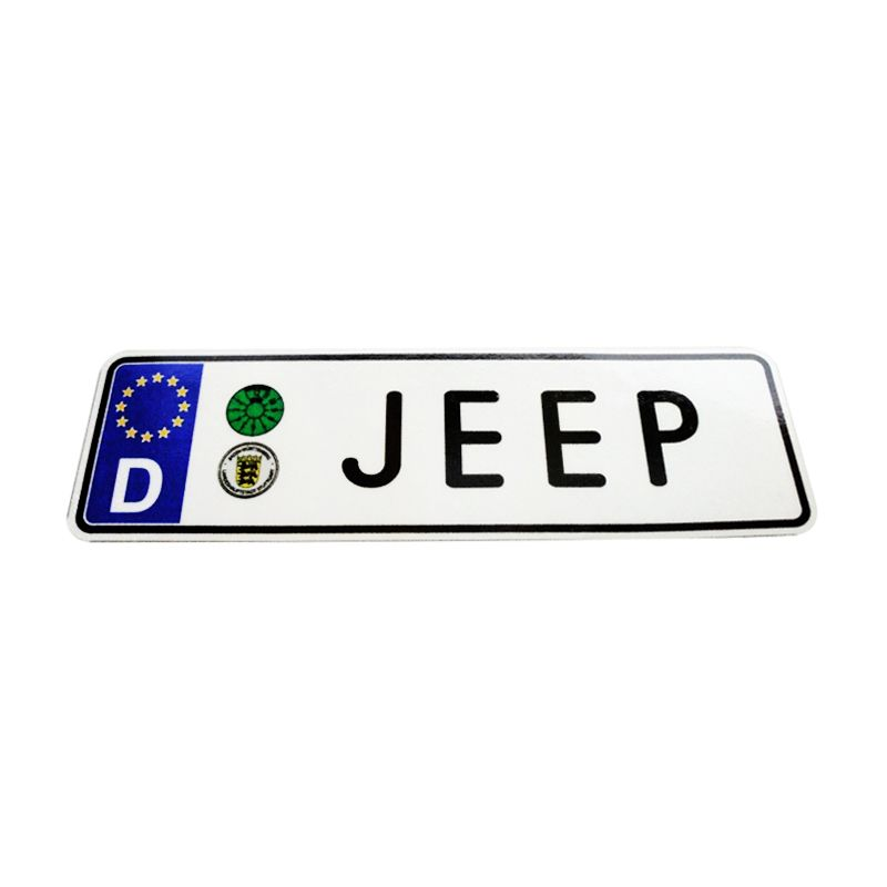 Automilshop D Jeep Putih Sticker