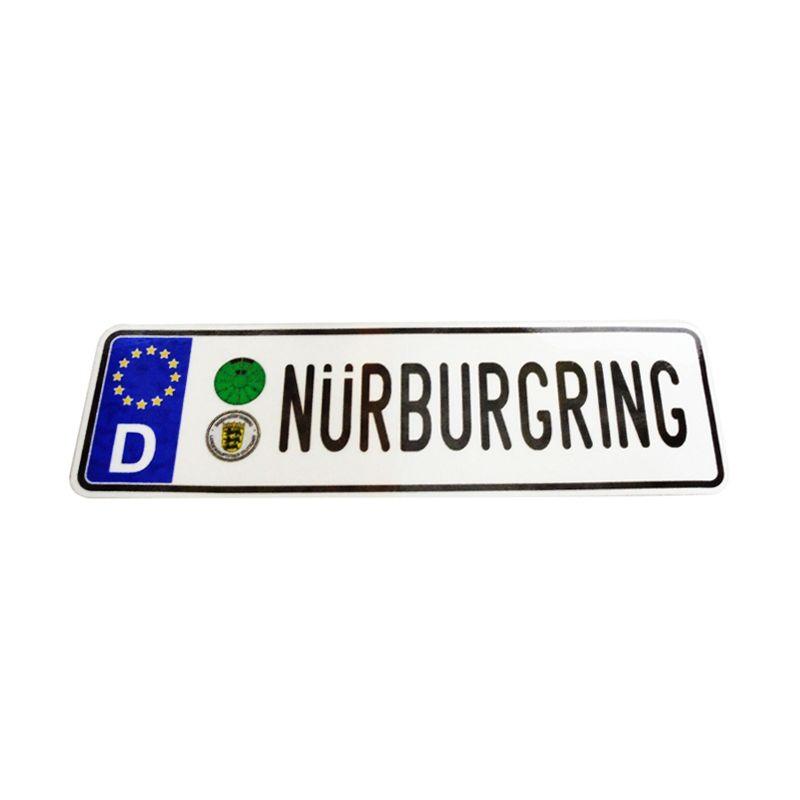 Automilshop D Nurburgring Putih Sticker