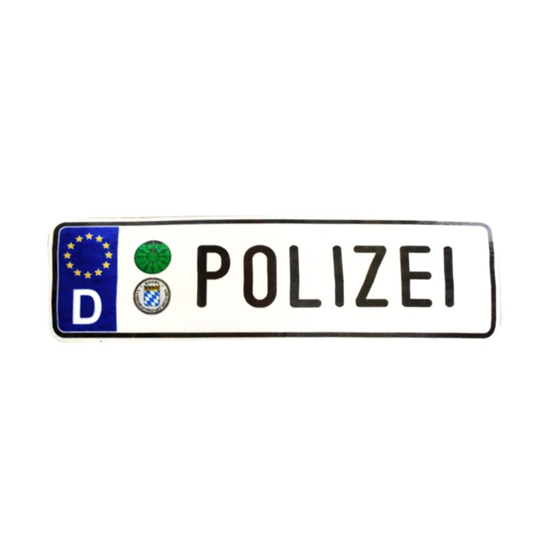 Automilshop D Polizei Putih Sticker