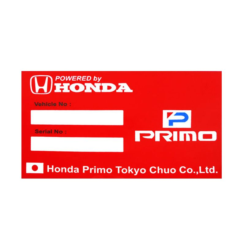 Automilshop Honda Primo Merah Putih Stick On Stiker Kaca Mobil