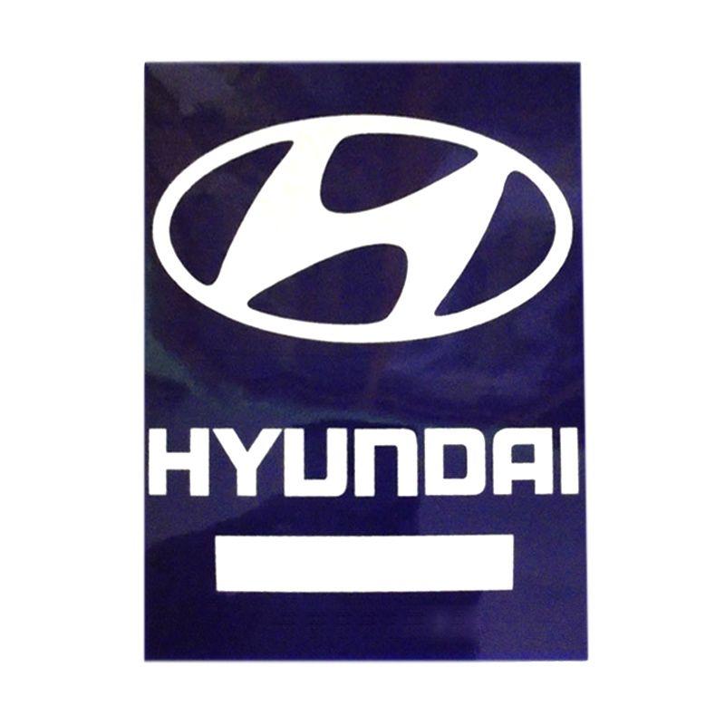 Automilshop Hyundai Biru Putih Stick On Stiker Kaca Mobil