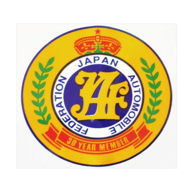 Automilshop JAF 30 Year Member Kuning Stick On Stiker Kaca Mobil