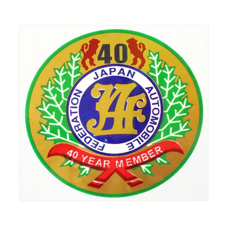 Automilshop JAF 40 Year Member Gold Stick On Stiker Kaca Mobil