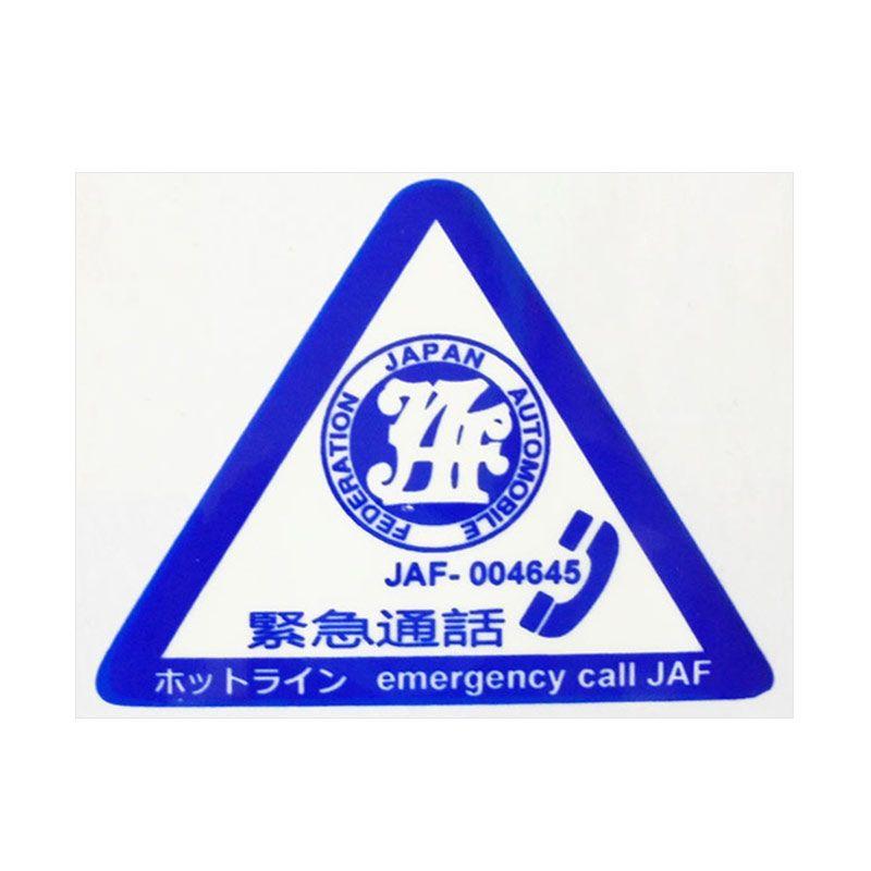 Automilshop JAF Emergency Call Biru Putih Stick On Stiker Kaca Mobil