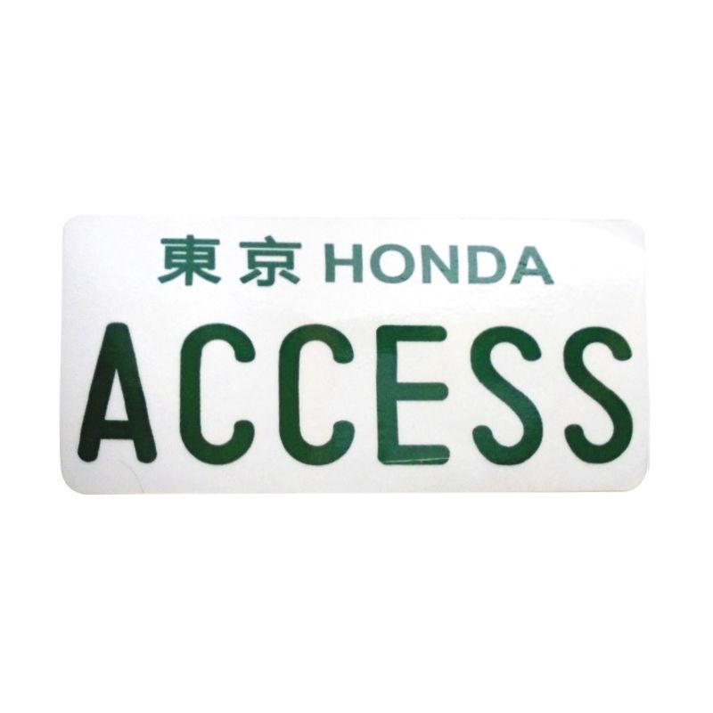 Automilshop Japan Honda Access Putih Hijau Sticker