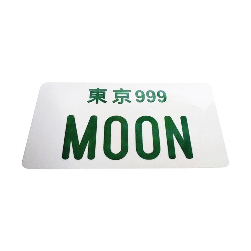Automilshop Japan Moon Putih Hijau Sticker