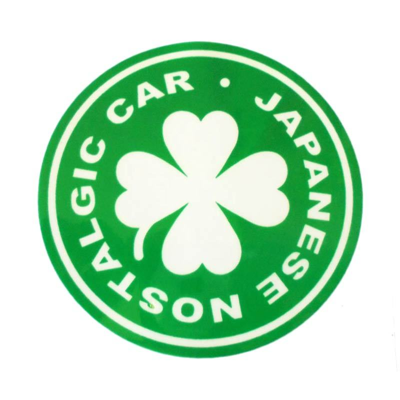 Automilshop Japanese Nostalgic Car 2 Hijau Putih Stick On Stiker Kaca Mobil