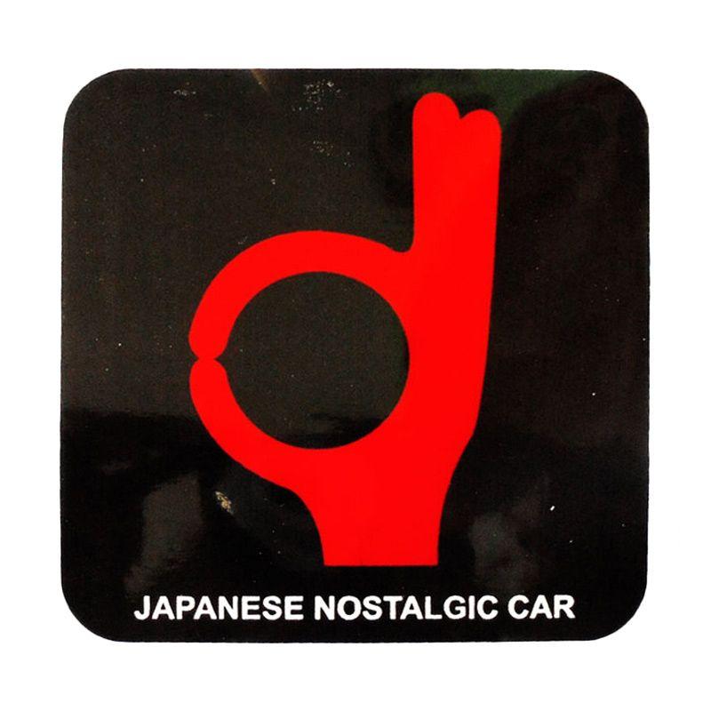 Automilshop Japanese Nostalgic Car 3 Hitam Merah Stick On Stiker Kaca Mobil