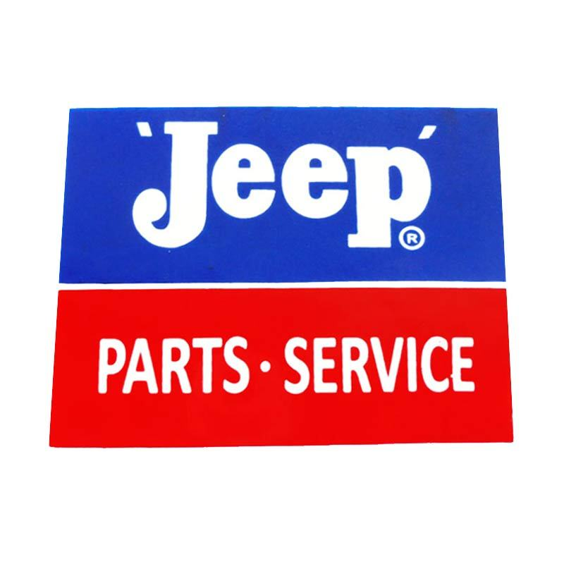 Automilshop Jeep Parts Service Biru Merah Stick On Stiker Kaca Mobil