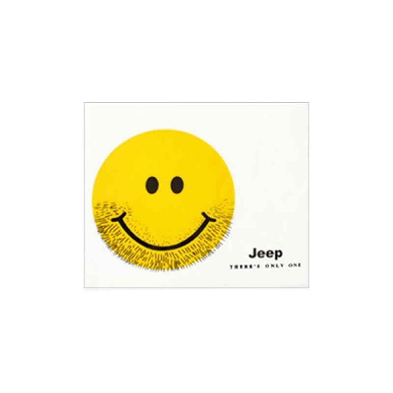 Automilshop Jeep Smile Putih Kuning Stick On Stiker Kaca Mobil
