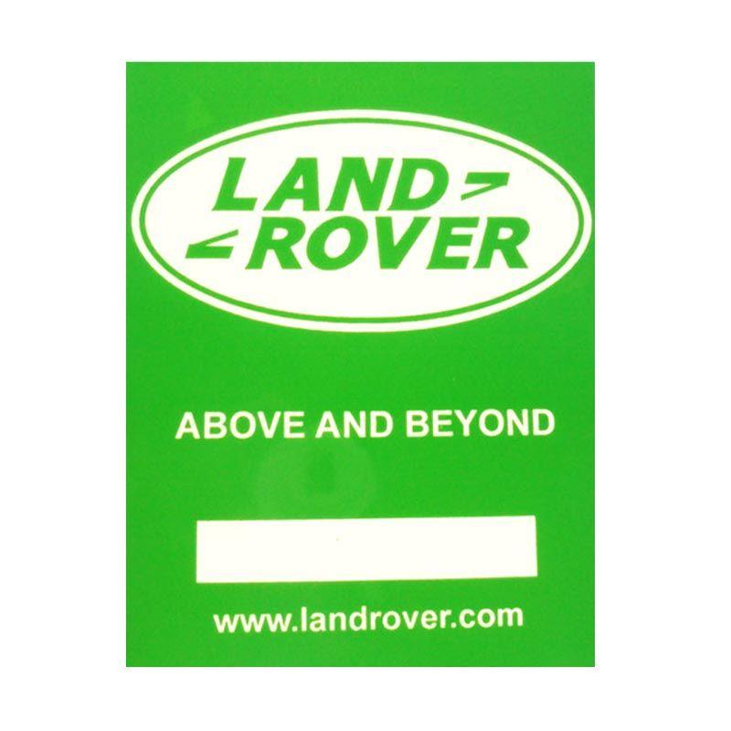 Automilshop Land Rover Hijau Putih Stick On Stiker Kaca Mobil