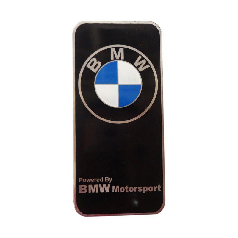 Automilshop Logo BMW Motorsport Hitam Aksesoris Mobil