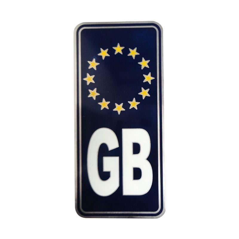 Automilshop Logo GB Euro Biru Tua Aksesoris Mobil