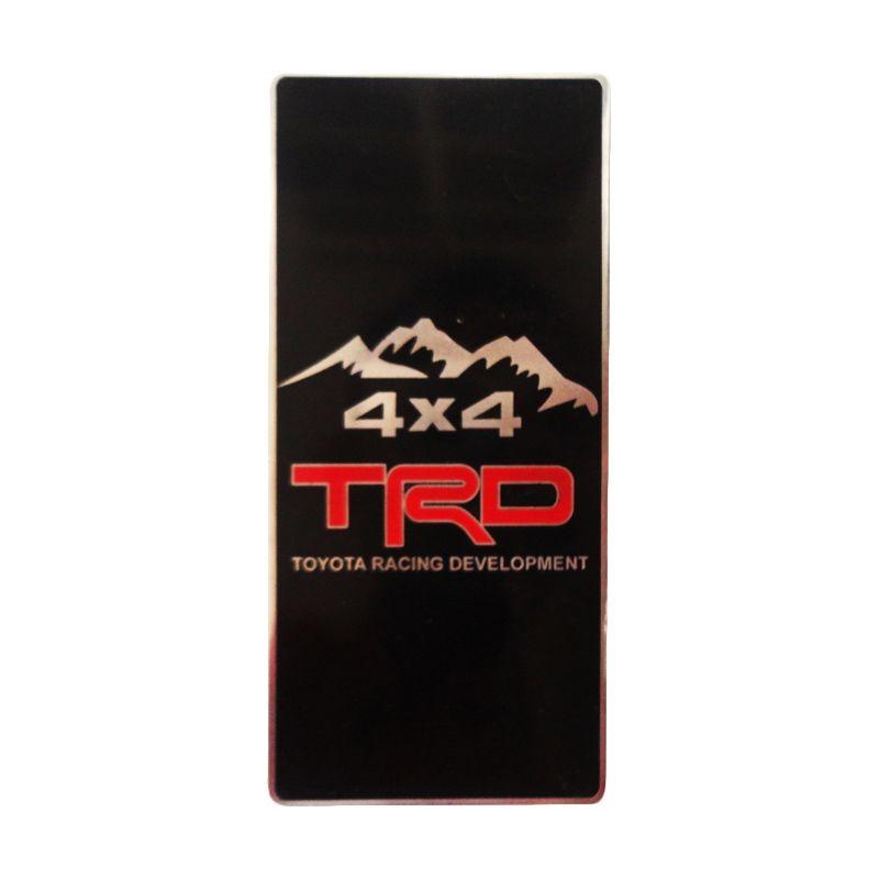 Automilshop Logo TRD 4x4 Hitam Aksesoris Mobil