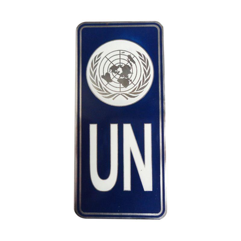 Automilshop Logo UN 1 Putih Aksesoris Mobil