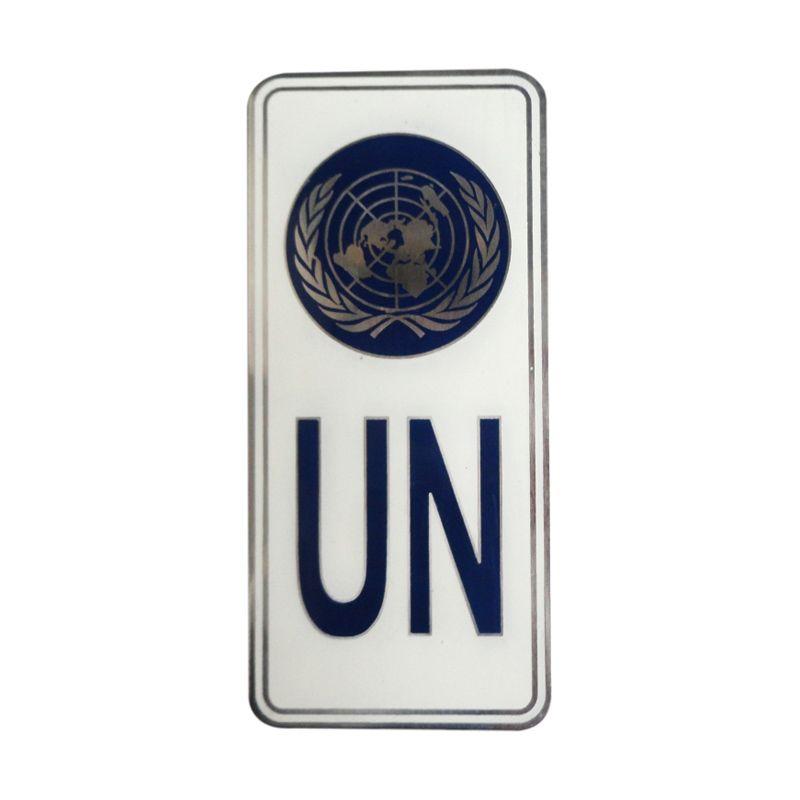 Automilshop Logo UN 2 Putih Aksesoris Mobil