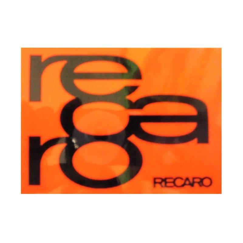 Automilshop Recaro 1 Orange Stick On Stiker Kaca Mobil