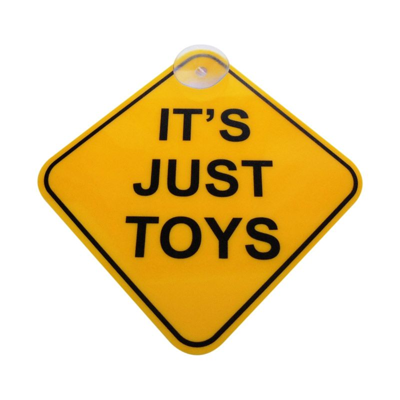 Automilshop Its Just Toys Kuning Sign Board Aksesoris Mobil