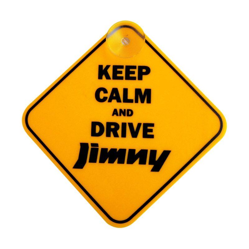 Automilshop Keep Calm And Drive Jimny Kuning Sign Board Aksesoris Mobil
