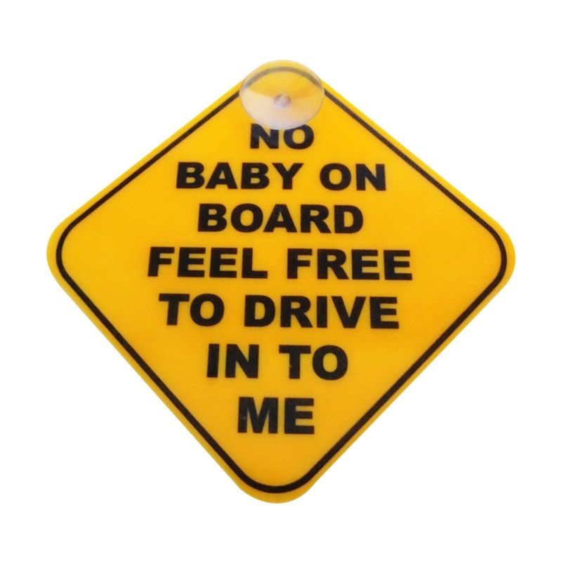 Automilshop No Baby On Board Kuning Sign Board Aksesoris Mobil