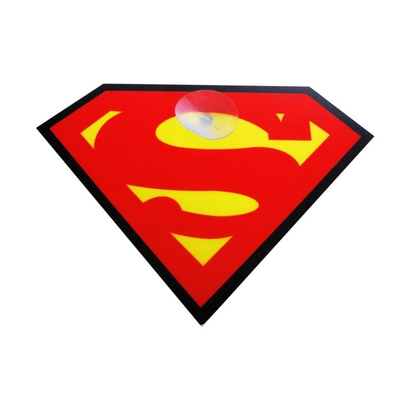 Automilshop Superman Kuning Sign Board Aksesoris Mobil