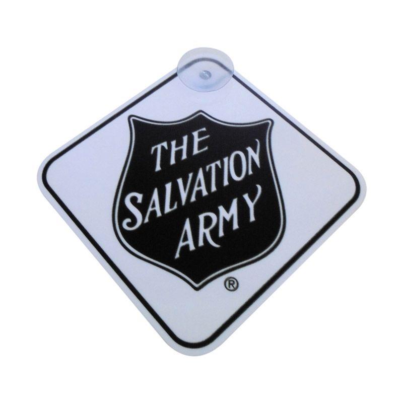 Automilshop The Salvation Army Putih Sign Board Aksesoris Mobil