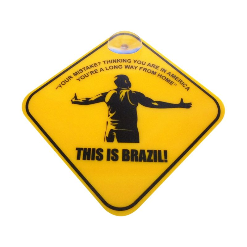 Automilshop This Is Brazil Kuning Sign Board Aksesoris Mobil