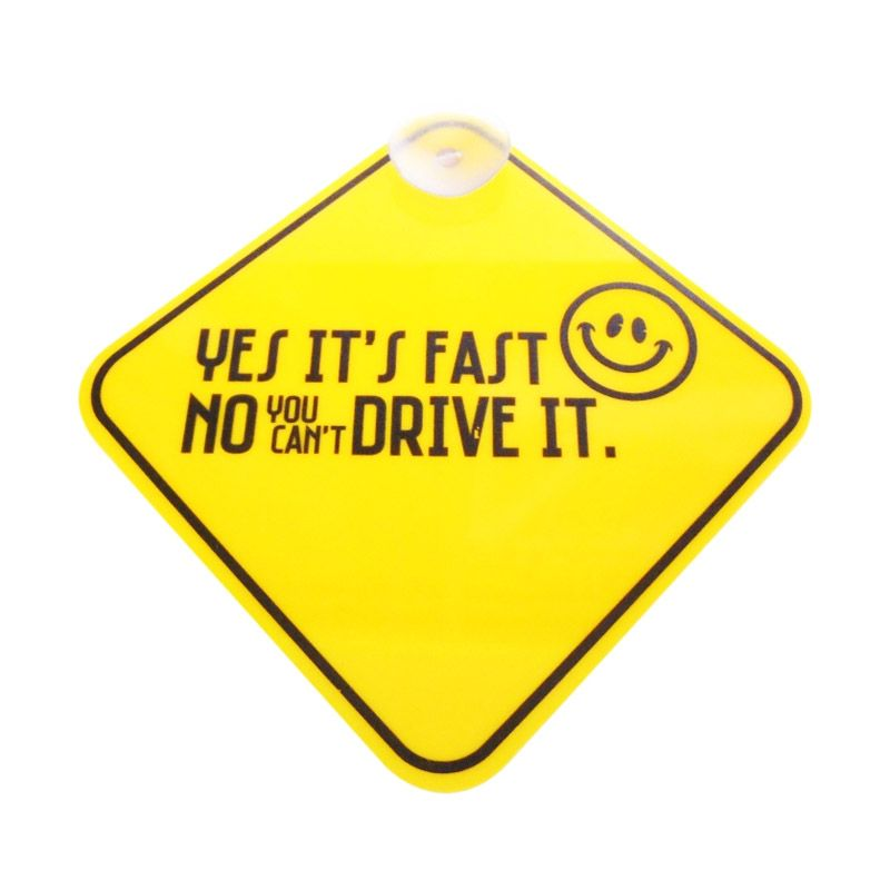 Automilshop Yes Its Fast Kuning Sign Board Aksesoris Mobil