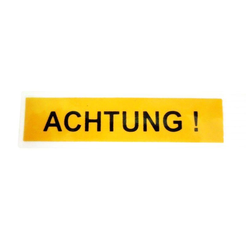 Automilshop Achtung Kuning Hitam Stick On Stiker Kaca Mobil