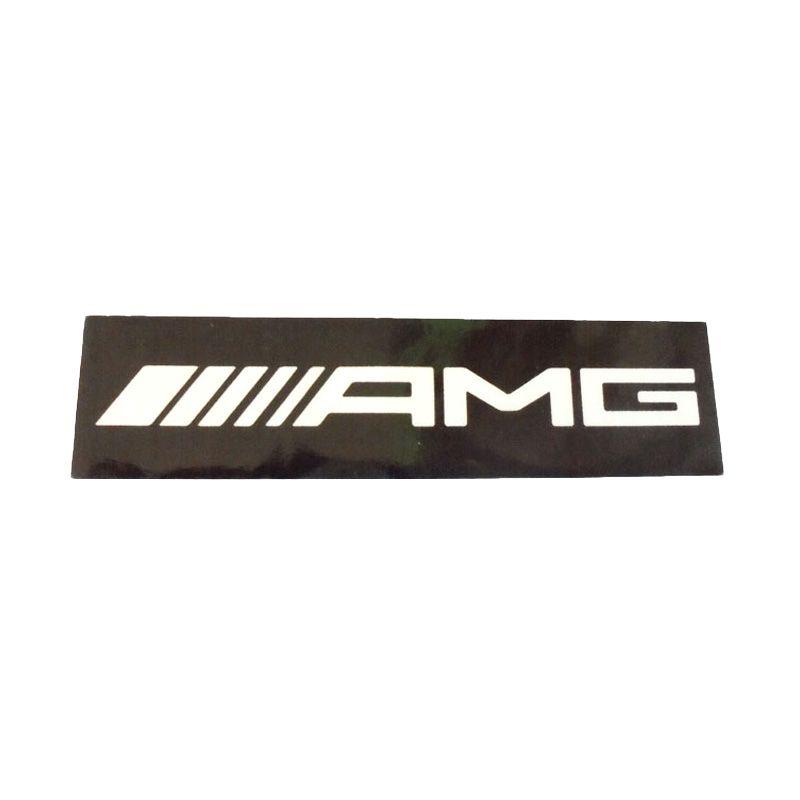 Automilshop AMG 1 Hitam Putih Stick On Stiker Kaca Mobil