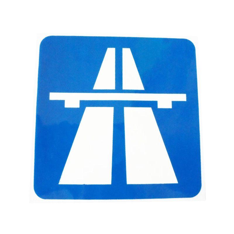 Automilshop Autobahn Biru Putih Stick On Stiker Kaca Mobil