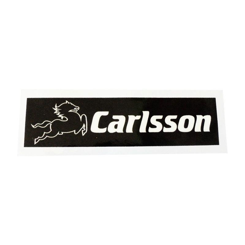 Automilshop Carlsson Hitam Putih Stick On Stiker Kaca Mobil