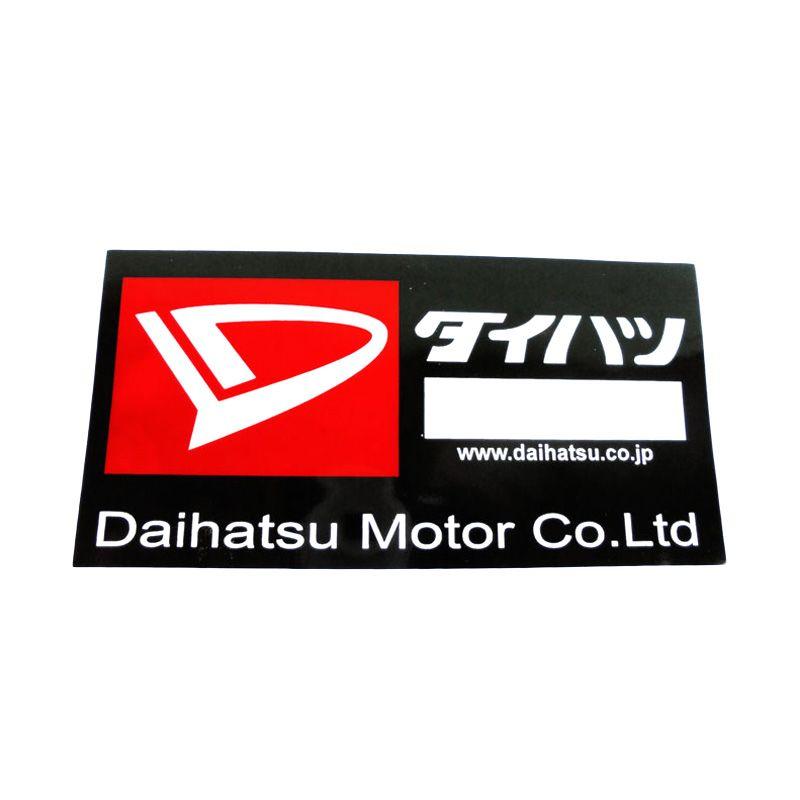 Automilshop Daihatsu Hitam Stick On Stiker Kaca Mobil