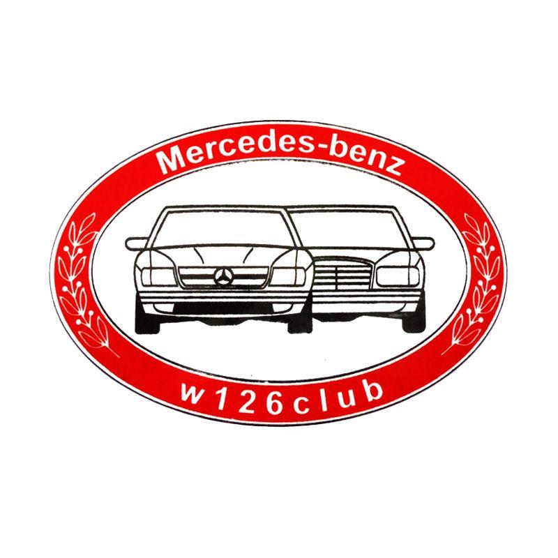 Automilshop Mercedes Benz W126 Merah Stick On Stiker Kaca Mobil