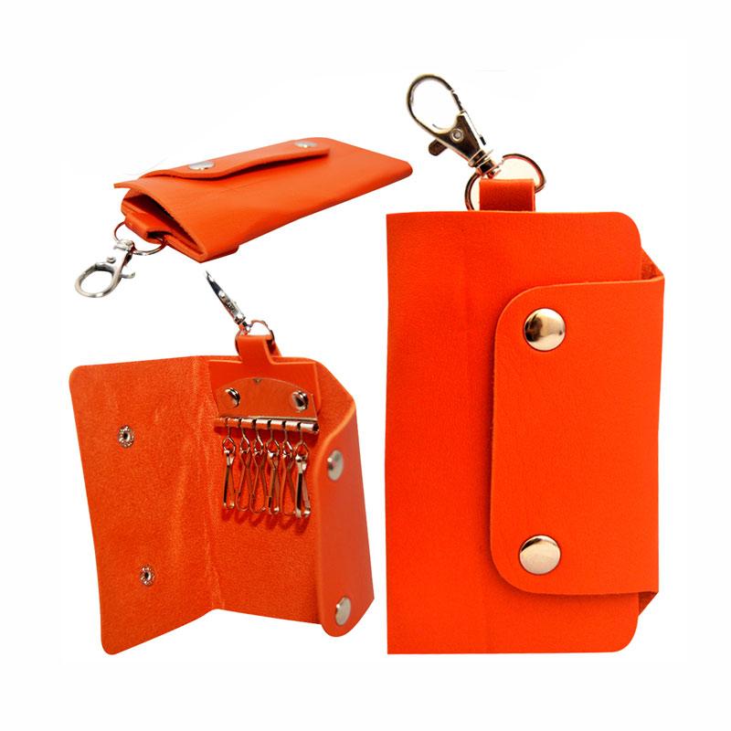 Autorace Gantungan Kunci Dompet Mobil Motor Polos - Orange