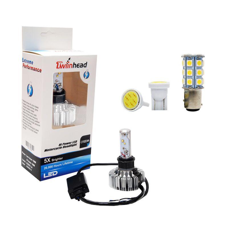 Twiinhead Hi Power Set AE01 LED White Lampu Motor [12 V / 16 W]