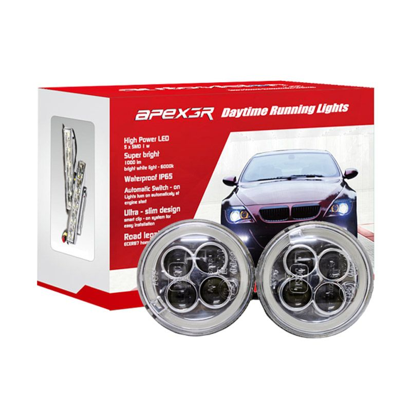 Autovision Apex Car DRL HP005-4 LED White Lampu Mobil [12 V/5 W]