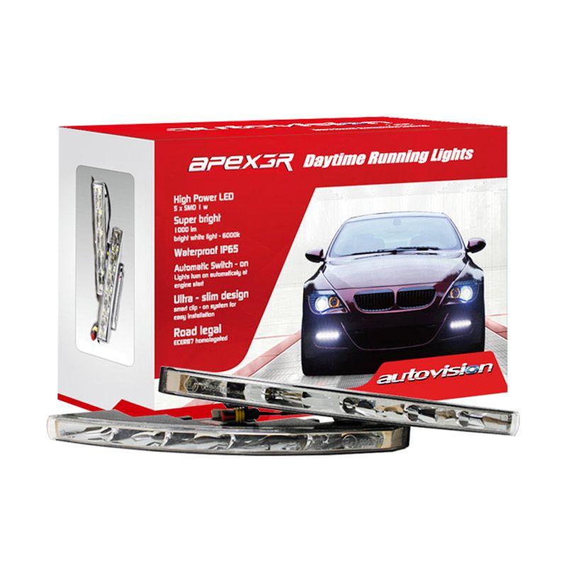 Autovision ApexGR DRL HP007-5 LED White Lampu Mobil [12 V]